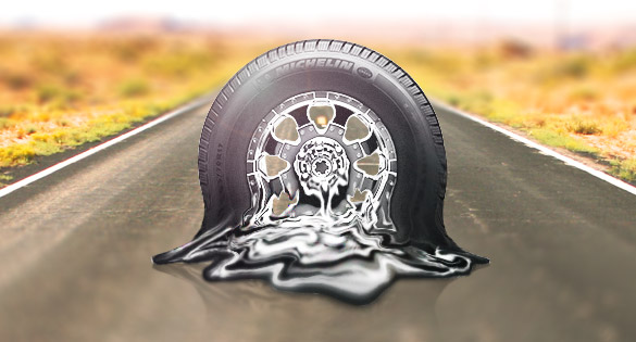 melting tire