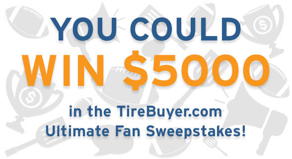 $5000 TireBuyer Tailgate Sweepstakes