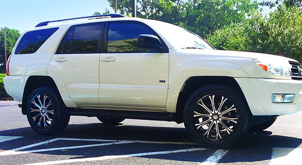 20 inch Platinum 408 BM on a Toyota 4Runner