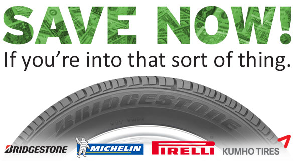 Save now with tire rebates
