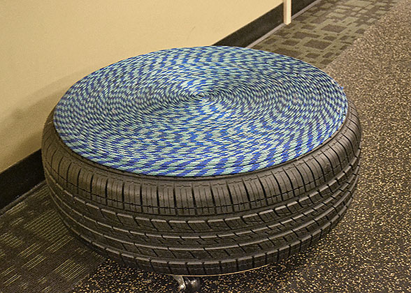 Making a tire ottoman blog for Tire table diy