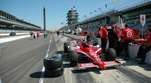 firestone racing car at the track