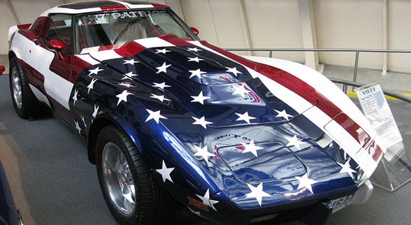 corvette with usa colors