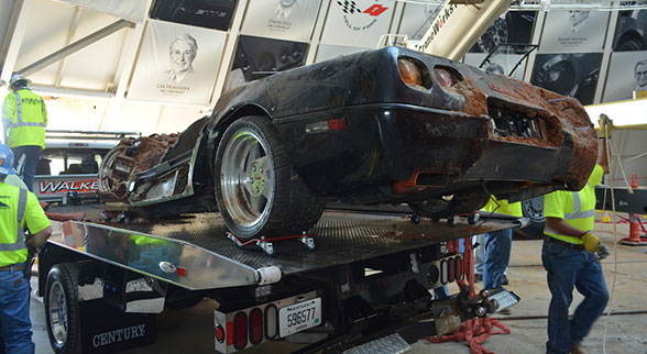 1993 ZR 1 Spyder wrecked by sinkhole
