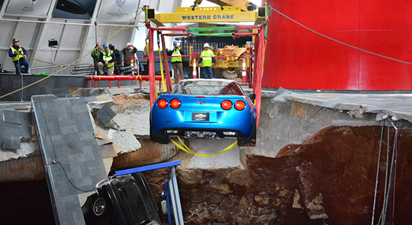 Corvette Blue Devil pulled from sinkhole
