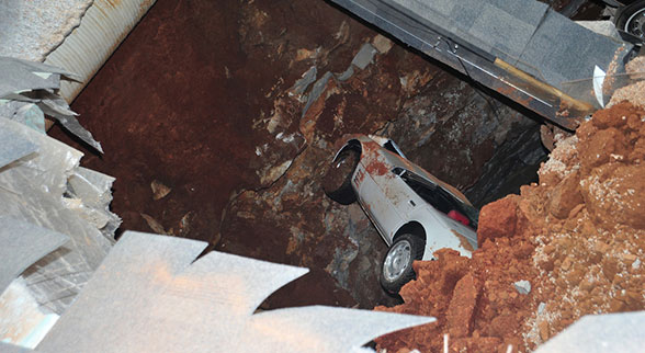 Millionth built Corvette in sinkhole