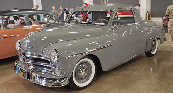 1950 Plymouth Deluxe at Barrett-Jackson auction