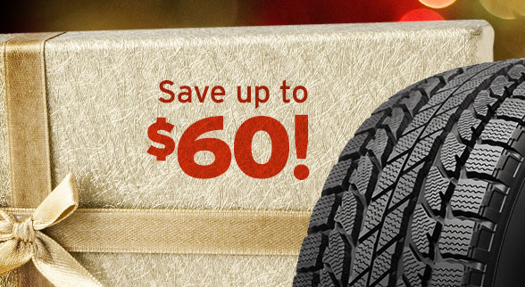 save up to $60 on tires or wheels