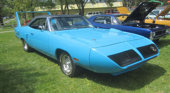 1970 Plymouth Road Runner Superbird light blue