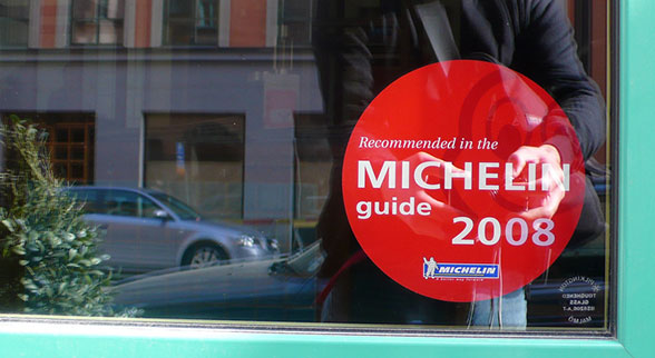 Michelin recommended restaurant sticker