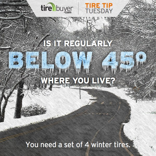 Is it regularly below 45 degrees where you live? You need a set of winter tires.