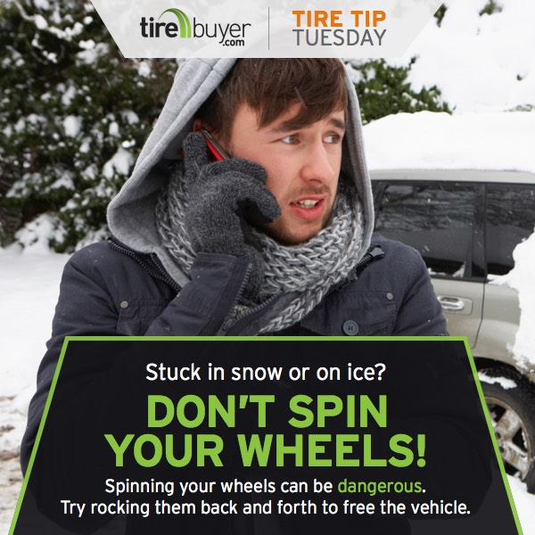 Stuck in snow or ice? Don't spin your wheels!