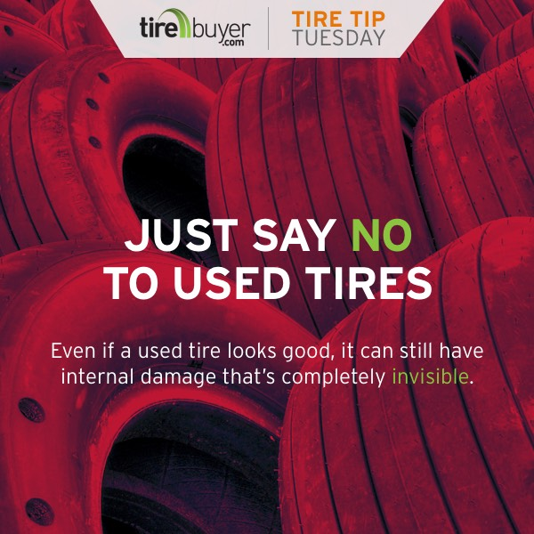 Even if a tire looks good, it can still have internal damage that's completely invisible.