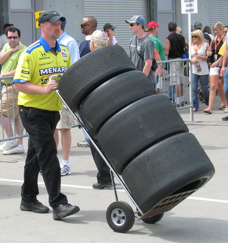 Bald Firestone Tires from the Indy 500