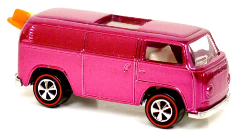 1. 1969 Pink Rear-Loading Volkswagen Beach Bomb