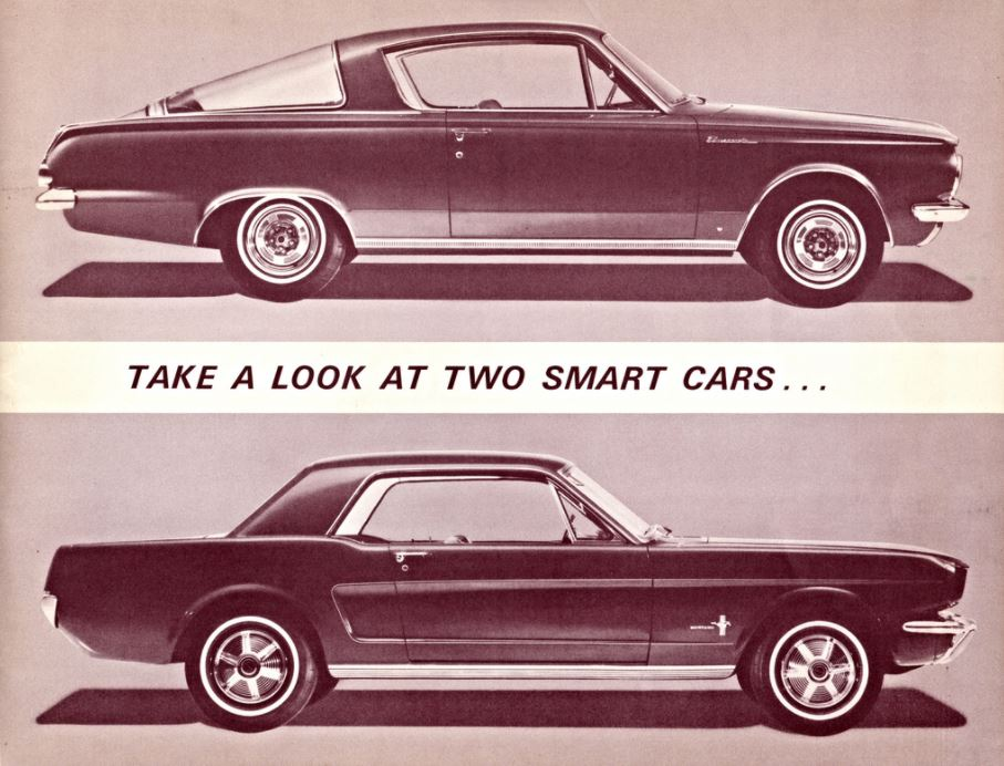 1965 Barracuda vs. Mustang