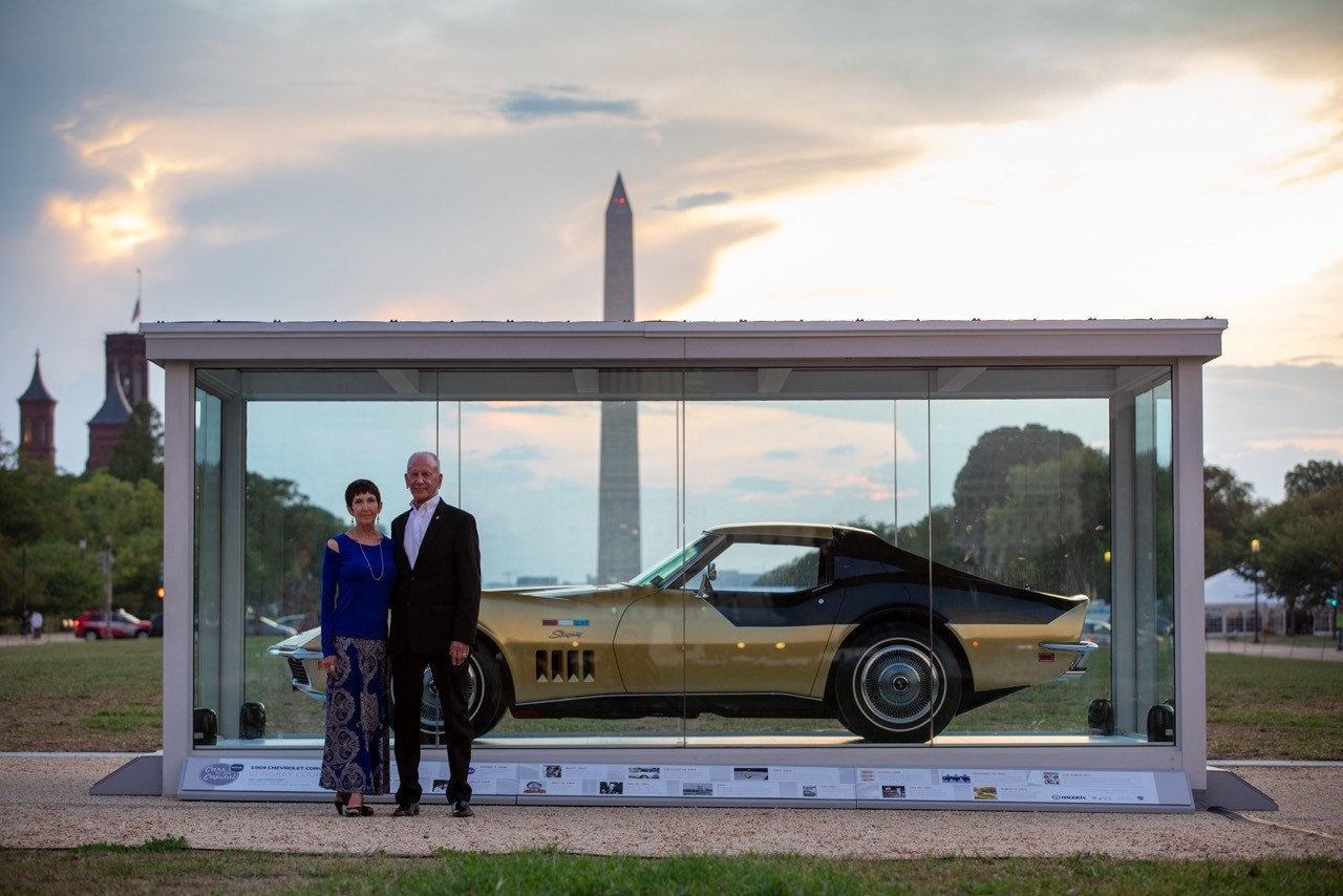 Kate and Danny Reed with Apollo 12 astronaut Alan Bean's Corvette - Photo Credit: Danny Reed