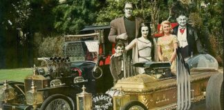 """Horror Cars from """"The Munsters"""": Munster Koach and Drag-u-la"""