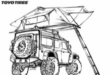 Toyo Tires – Coloring Pages for Truck and Car Enthusiast