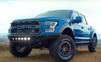 General Tire's Grabber AT/X, seen here fitted to a Ford Raptor, is a perfect choice for any pickup or SUV that will see significant off-road use.